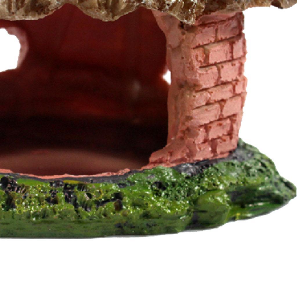Resina Casa Vivarium Reptile Decoração Aquarium Fish Tank ornamento do lagarto Aranha Ocultar caverna