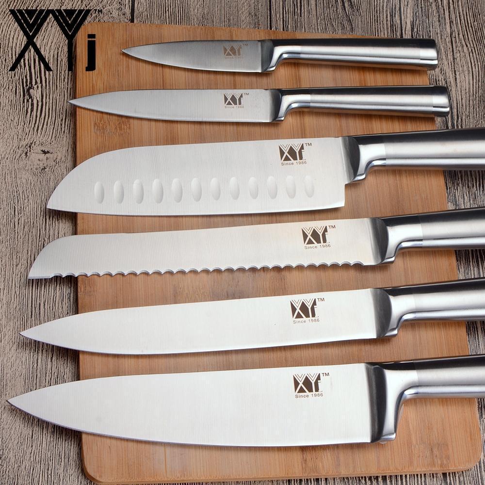 3,5 5 7 8 pulgadas cuchillos de cocina Set Estructura 7Cr17 acero inoxidable cuchillos para uso general de la fruta Santoku chef cortar pan Cocinar cuchillo