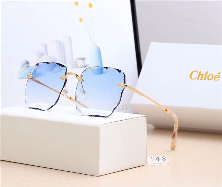 Роскошные дизайнерские солнцезащитные очки с логотипом мужчин и женщин моды кампании высокого качества моды случайные солнцезащитные очки уникальной личности 0043
