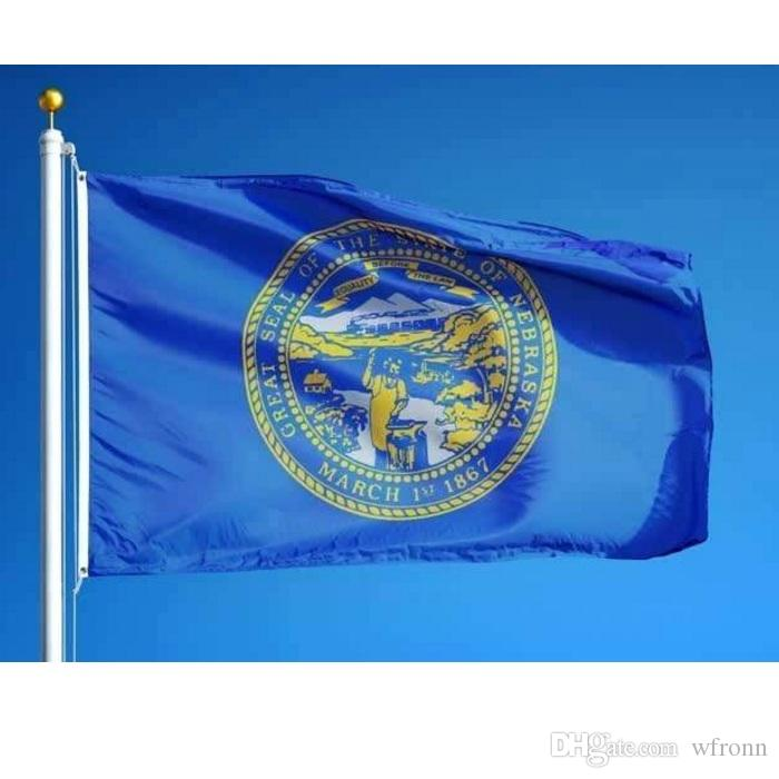 USA Nebraska State Flag 3x5 ft Nebraska Drapeau Polyester imprimé de haute qualité Nouveau Tout Custom Style État américain Drapeaux Banderoles