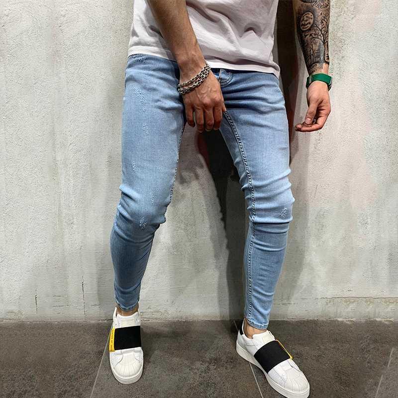 2021 Pants Pantalones Slim Fit Light Blue Jeans Mens Clothing Autumn Street Biker Jean Pencil From Popcornseller 23 79 Dhgate Com