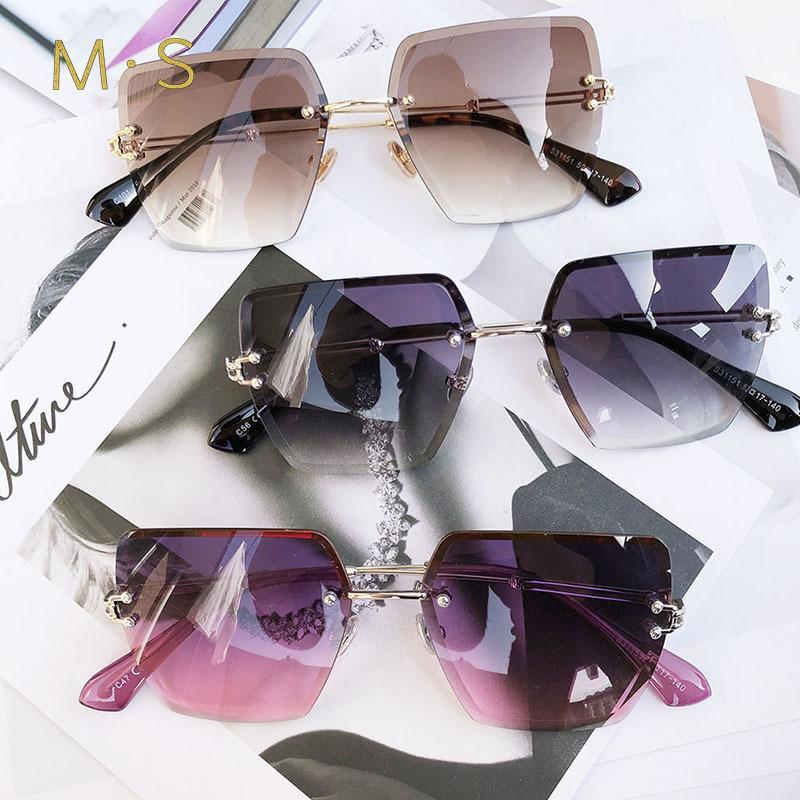 2018 new übergroße sonnenbrille für frauen platz sonnenbrille frauen verspiegelte gläser mode weibliche designer sonnenbrille sol uv400 mx190723