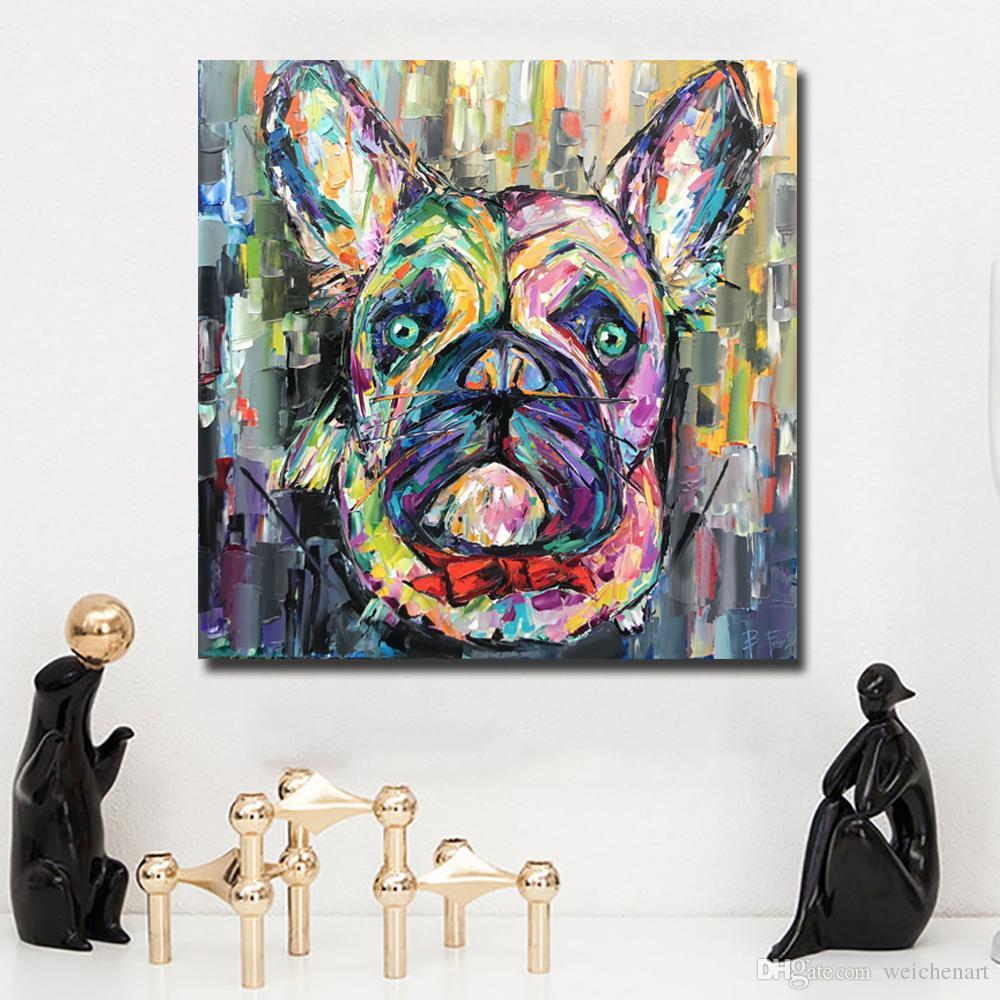 1 Panel Niedlichen Hund Tier Wandbilder Gedruckt Auf Leinwand Modularen Bilder Wandkunst Poster Und Drucke Für Wohnzimmer Dekor Kein Rahmen