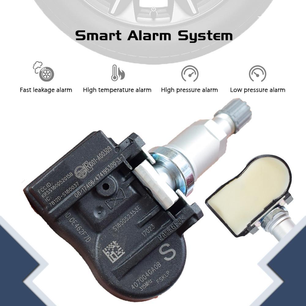 لإنفينيتي Q50 2014 2015 مراقبة ضغط الإطارات TPMS الضغط نظام الاستشعار 315MHZ صور الاستشعار 40700-4GA0B 407004GA0B