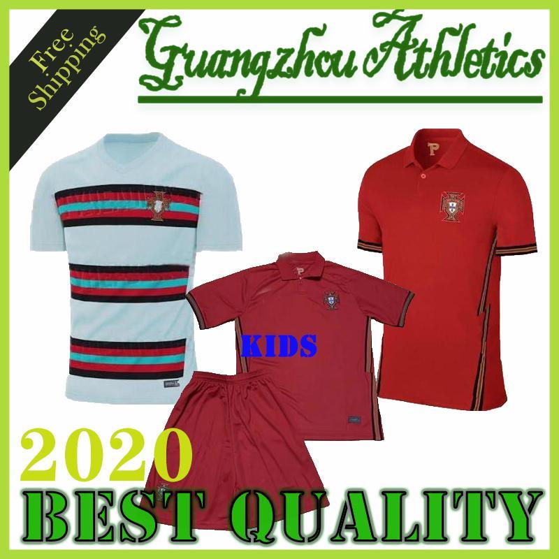 RONALDO Fußball Trikots JOAO FELIX 2020 2021 Finale Fußball Trikot 20 21 PORTUGAL MEN + Kindeinstellt einheitliche Camisa de futebol Maillot de foot
