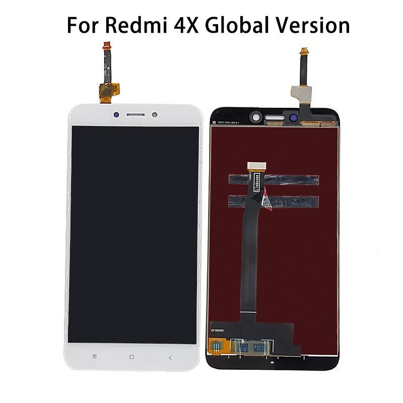 لXIAOMI لRedmi 4X النسخة العالمية شاشة LCD تعمل باللمس الجمعية محول الأرقام 100٪ مجربة وإصلاح أجزاء تعمل بشكل جيد