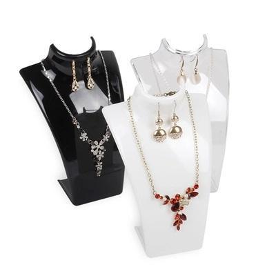 Collar Colgante Cadena Joyería De Plástico Transparente Soporte de Exhibición de Busto