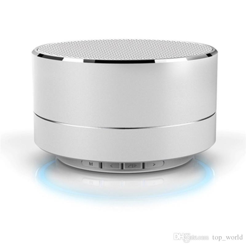 Wirelesss A10 LED Glowing Bluetooth Receiver Hands-free Music Player Metal Bluetooth Speaker For iPhone xiaomi Oppo