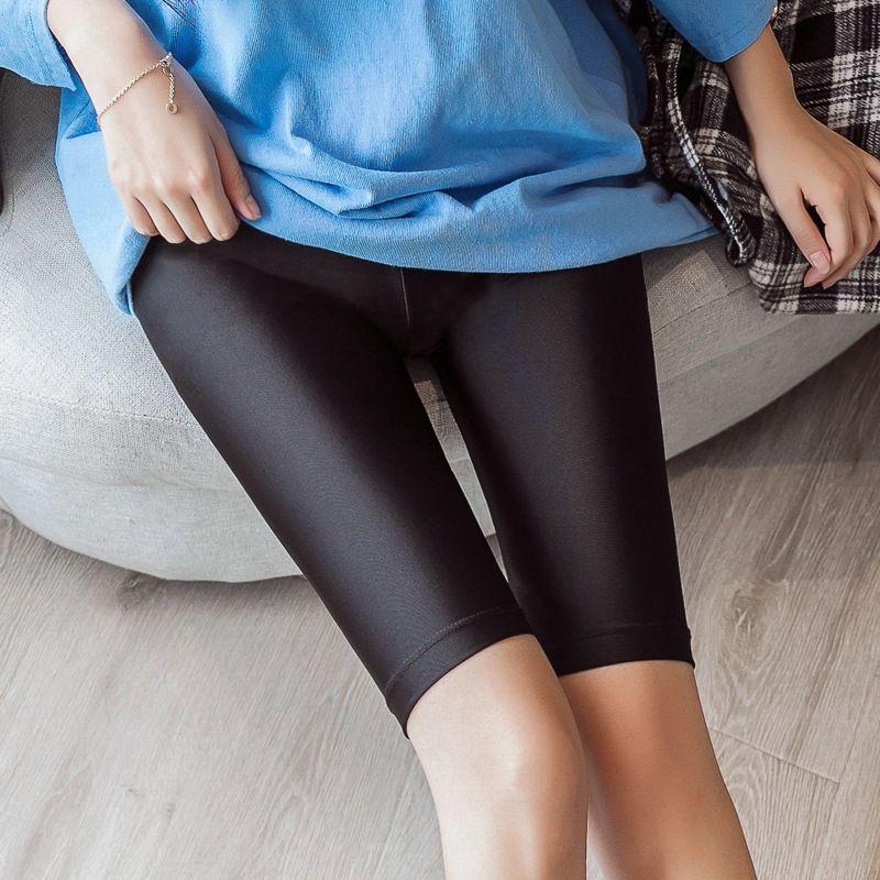 New Womens Fitness Half High Waist Quick Dry Skinny Yoga Bike Shorts Leggings