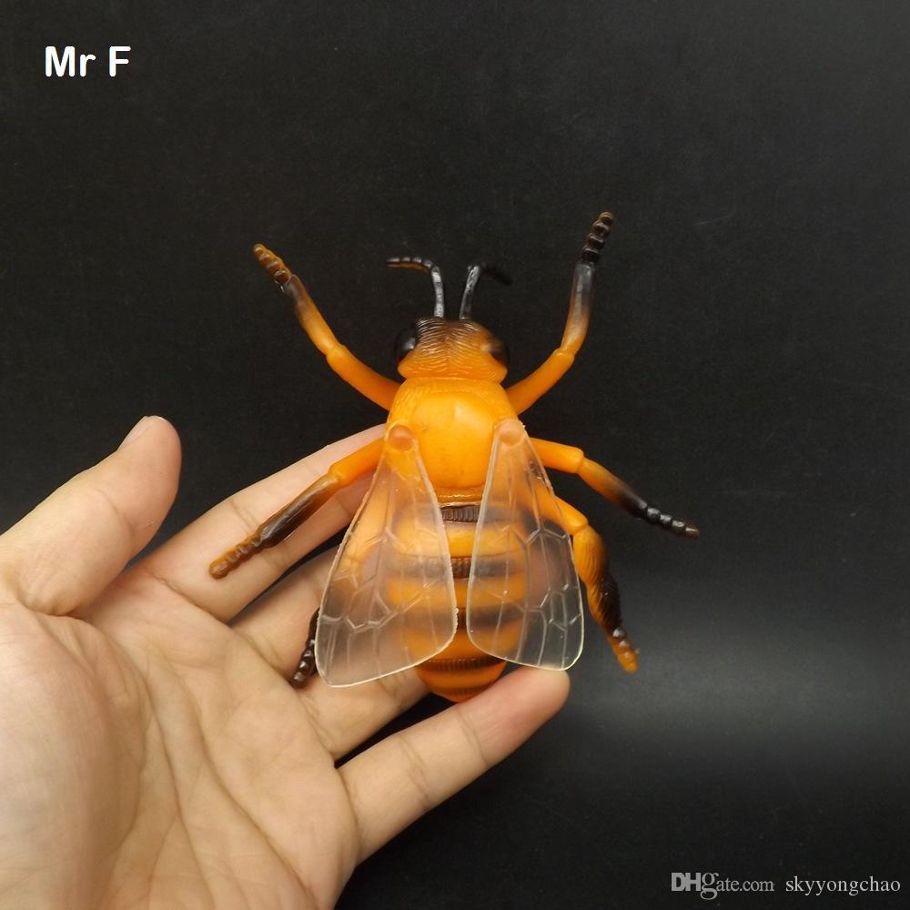 Gags Praktische Witze Gelb Honigbiene Simulation Tier Modell Lernspiel Kognitiven Spielzeug Kid Kinder Geschenk Wissen Spielzeug