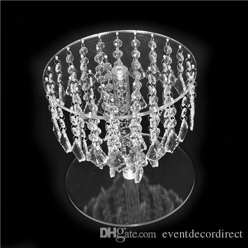 Wedding Crystal Round Bling Chandelier Cake Stand Transparent Cascading Cupcake Stand Wedding Party Cake Tower Display Centerpieces
