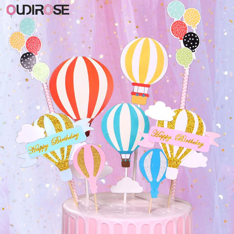 Sensational 2020 Hot Air Balloon Cloud Cake Topper Decoration Happy Birthday Funny Birthday Cards Online Alyptdamsfinfo