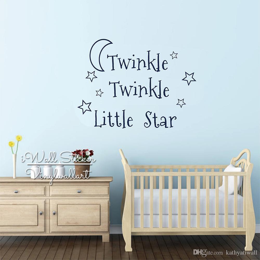 Twinkle Twinkle Little Star Wall Citation Vinyle//Autocollant//Nursery//Autocollant TOUTE COULEUR
