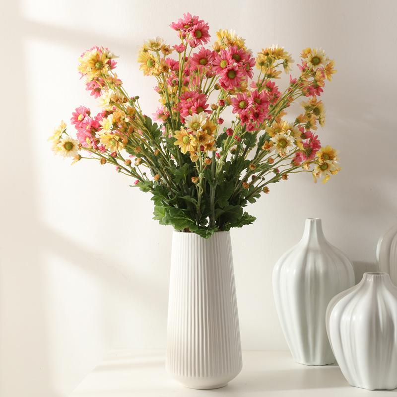 1 pz fiore artificiale di seta 3 forchetta giapponese piccolo crisantemo daisy accessori per la composizione floreale decorazione della casa di nozze fai da te