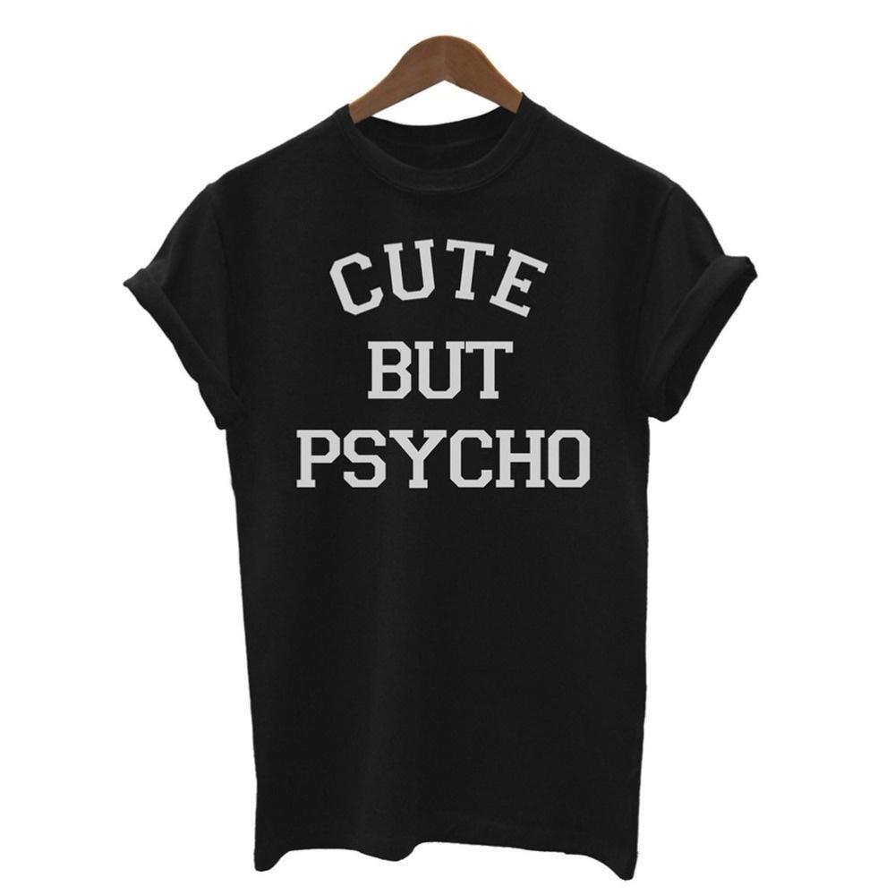 Imprimer mignon femmes T-shirt drôle T-shirt décontracté pour Lady Girl Top T Hipster Tumblr Harajuku T-shirt