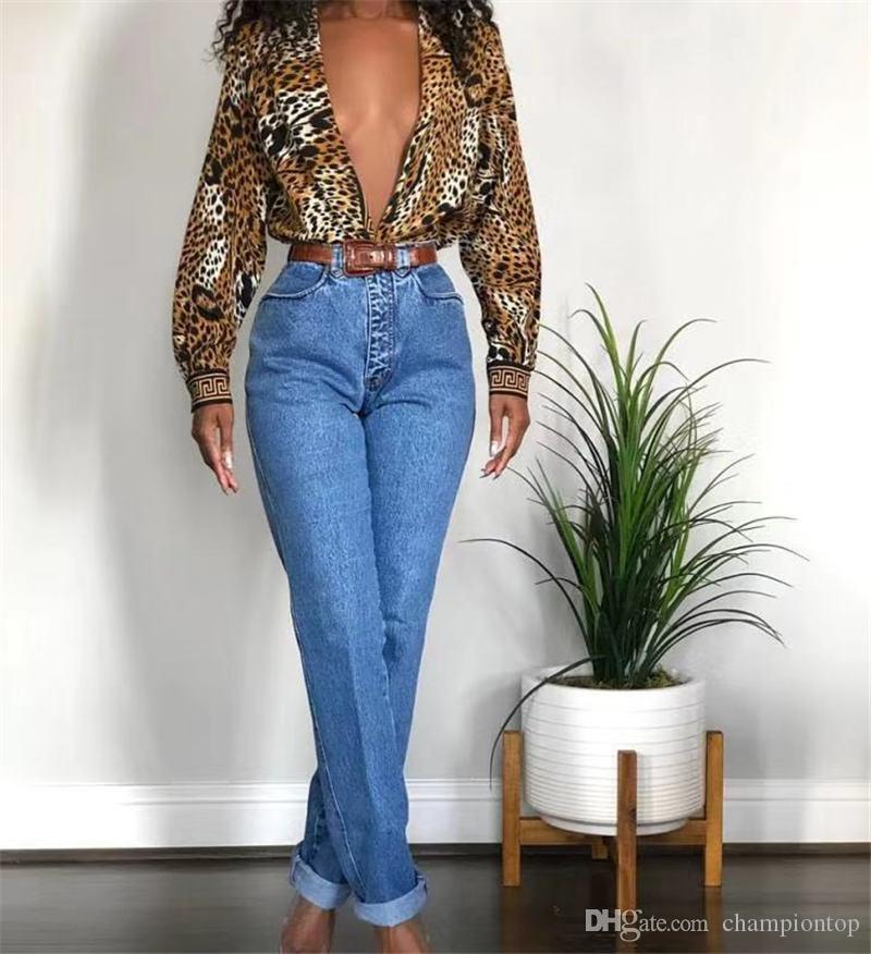 Imprimé léopard des femmes Blouses Cardigan manches longues Lapel Femmes d'automne Chemises Mode Femmes Vêtements décontractés
