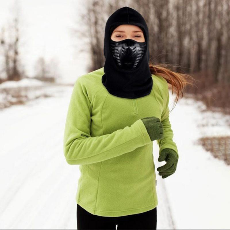 Winter Warm Motorcycle Windproof Face Mask Motocross Face masked Cs Mask Outdoor Warm Bicycle Thermal Fleece