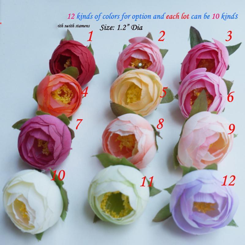 Nuovo disegno 50pcs fiori della seta artificiale capi falsi accessori per la Camellia Come Fai da te di corona decorazione di cerimonia flores artificiais