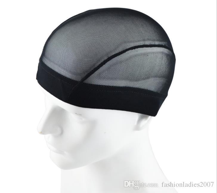 Сетка для париков в виде купола Черные эластичные плетёные шапки Эластичная нейлоновая сетка для изготовления париков Glueless Liner 3 сетки для волос на выбор
