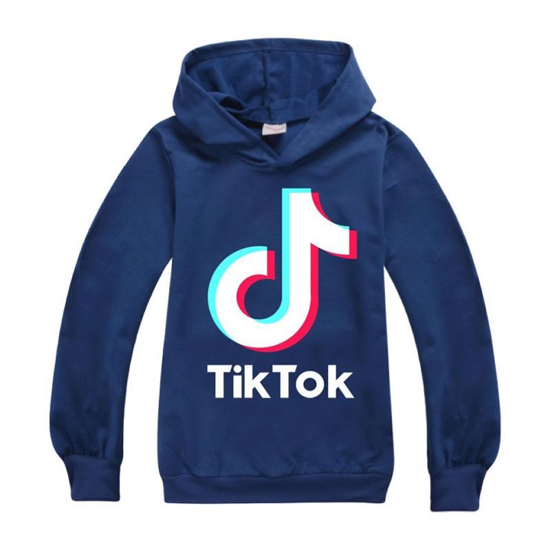 Tiktok Sweatshirt für Big Boy-Mädchen-Kleidung Tik Tok Herbst-Winter Kinder mit Kapuze Brief Hoodies Kid Sport Baumwoll-Pullover Kleidung