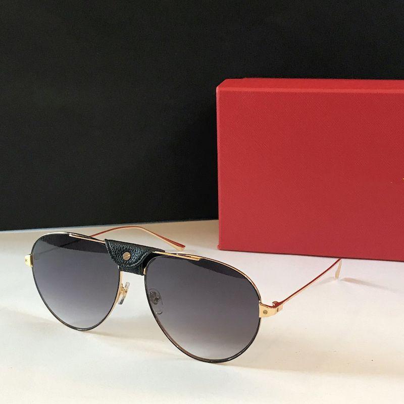 Mens de lujo diseñador marca gafas de sol Zonnebril mujeres diseñador de moda Gafas de sol Gafas de sol Gafas piloto Alooko 2020 Nuevo Marcos vintage 0038