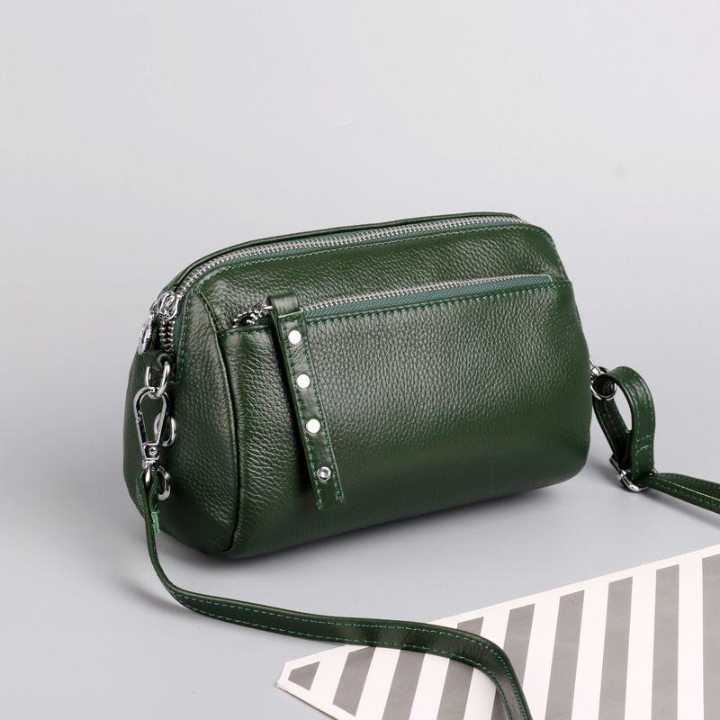 Cuir véritable petit Sacs à bandoulière pour les femmes Sac à bandoulière Femme d'embrayage soir Messenger Bag Ladies sacs à main et sac à main
