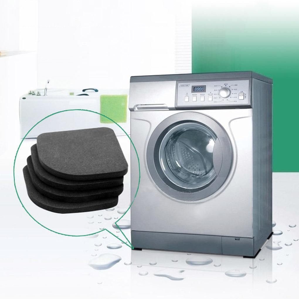 4PCS Black EVA Multifunctional Washing Machine Anti-shock Pads Non-slip Refrigerator Mute Pad