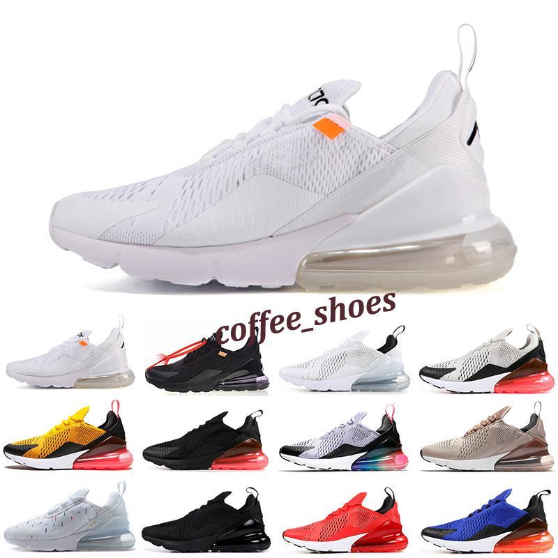 Nike Air Max 270 platine teinte Hommes Femmes Chaussures de course Triple Noir Blanc Université rouge tigre olive bleu vide Sport Hommes Formateurs Zapatos Sneakers F4