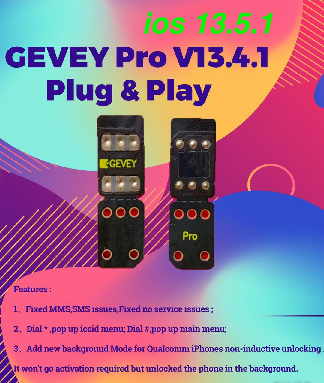iOS 13.5.1 Perfect Gevey pro v13.4.1 ICCID+cyber unlock for iPhone11 pro max Xs max xr x /8/7/6/plus LTE MEXICO GHEANA NG GHANA AFRICA US UK