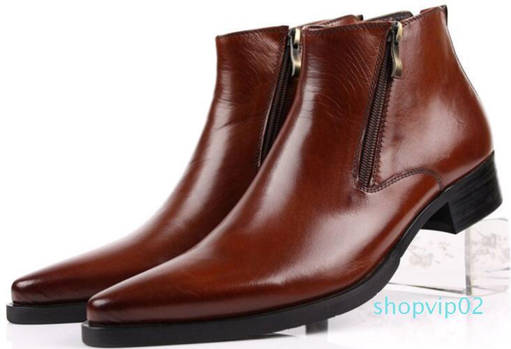 Hot Sale-nted Toe Luxus-Mode klassisches Business-Büro formal Stiefeletten Männer Schuhe männlich
