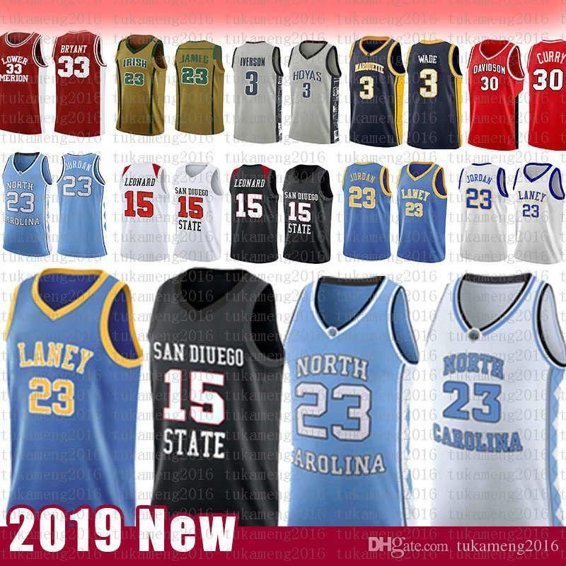 15 Kawhi 23 مايكل دينار ليونارد NCAA ولاية كارولينا الشمالية جامعة كرة السلة جيرسي اني مدرسة ثانوية سان دييغو الدولة الأزتيك