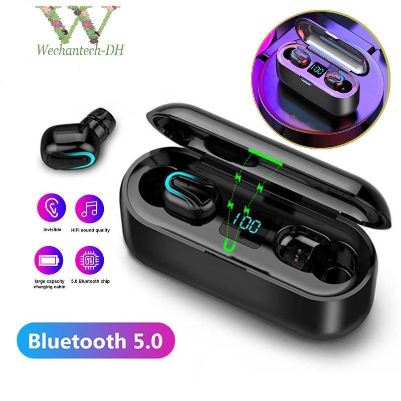 HBQ q32-1 Bluetooth Earphones TWS 5.0 Waterproof HD Stereo fones de ouvido sem fio Noise exibição Cancelamento Gaming Headset LED Power