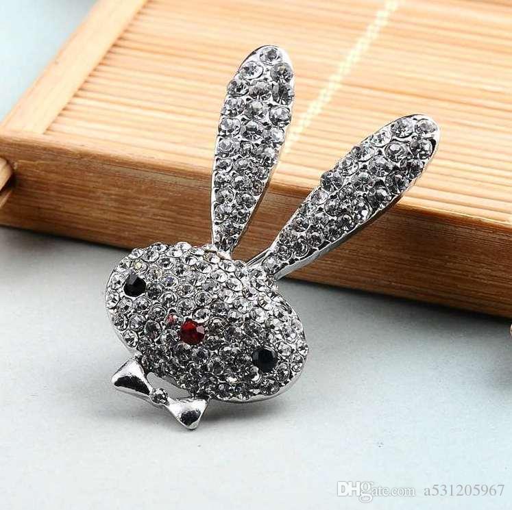 أرنب بروش الرجال النساء خمر بروش حجر الراين مجوهرات هدية دبابيس الزفاف دبابيس لذكر جودة عالية جديد