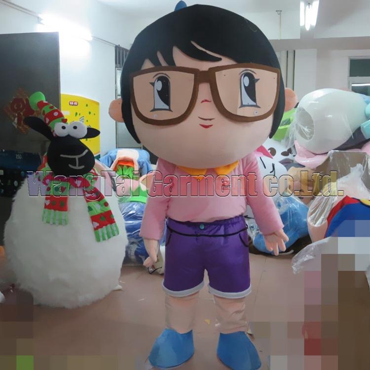 New Student Girl Maskottchen Kostüm Erstklassig Luxus-Zeichentrickfigur Kostüme Mädchen Maskottchenklage Abendkleid Partei Karneval-freies Verschiffen