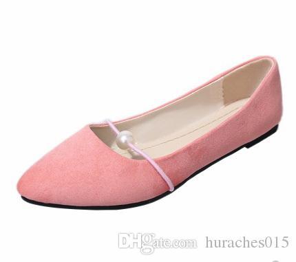 весна 2020 новый жемчуг неглубокие горлышком шикарные одиночные ботинки плоские ботинки корейской версии женской обуви