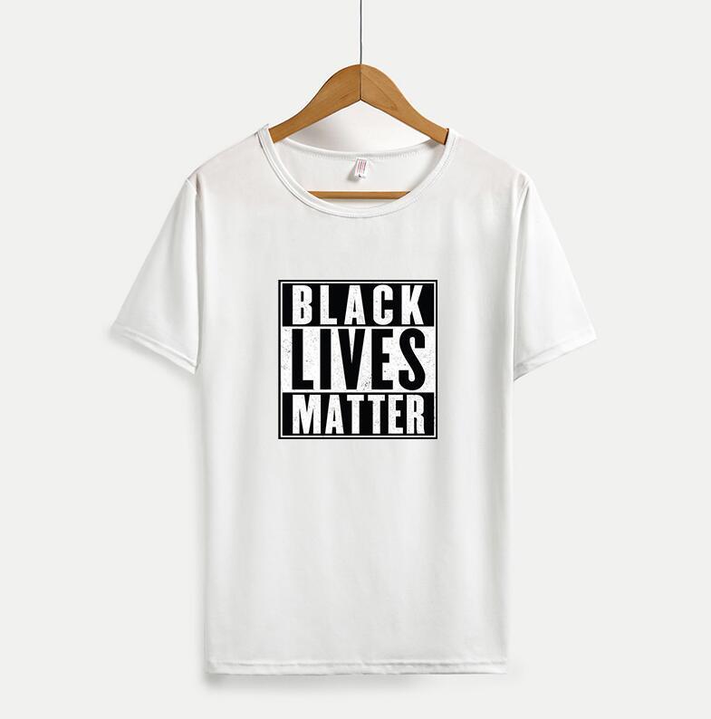 Casuales para hombre camisetas de las mujeres negras Lives Materia Printting nuevo verano transpirable camisetas de manga corta para hombre Tee Shirts Tops M-4XL disponible