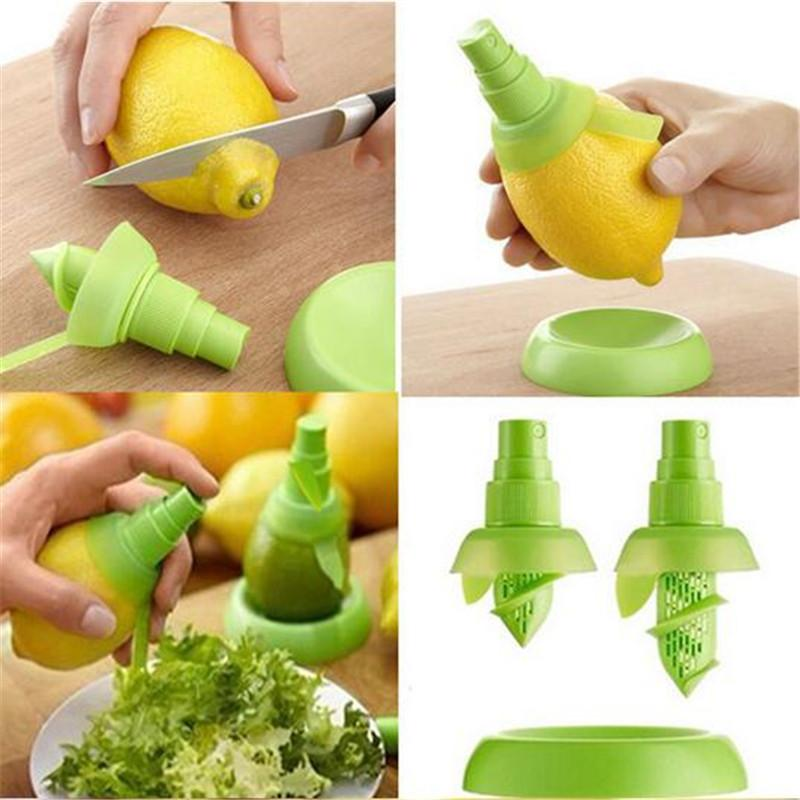 주방 액세서리 크리 에이 티브 레몬 스프레이 과일 주스 주방을위한 감귤류 라임 과즙 슈프리 쳐 주방 가젯 제품