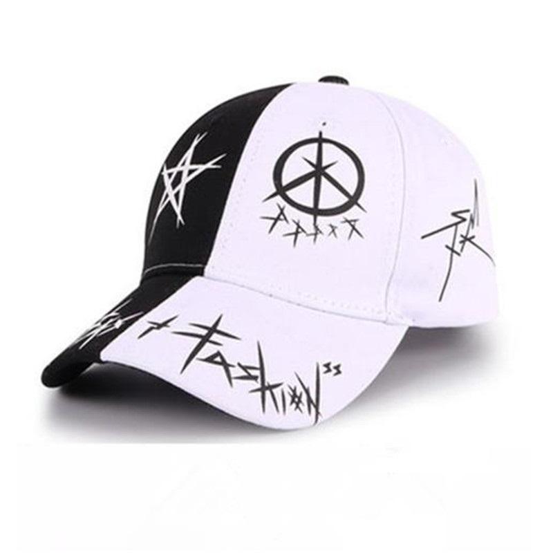 Designer lettres de mode chapeau de soleil chapeau sauvage tendance étudiant mâle quatre saisons dames chapeau en plein air imprimé casquette de baseball de sport de hip-hop