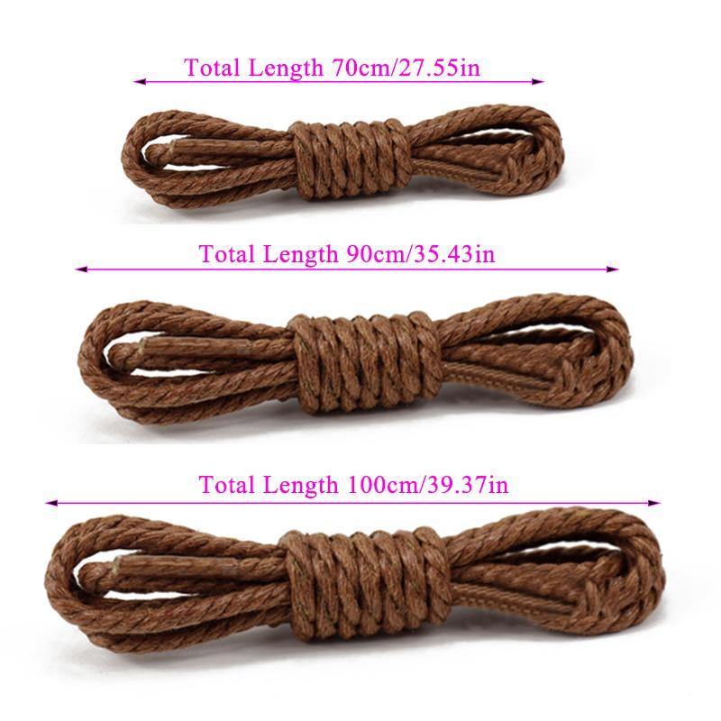 1pair encerar tres líneas Cordones Martin botas de cordones de los zapatos del deporte al aire redondo de algodón cordones de los zapatos 8 colores Longitud 70cm 90cm 120cm