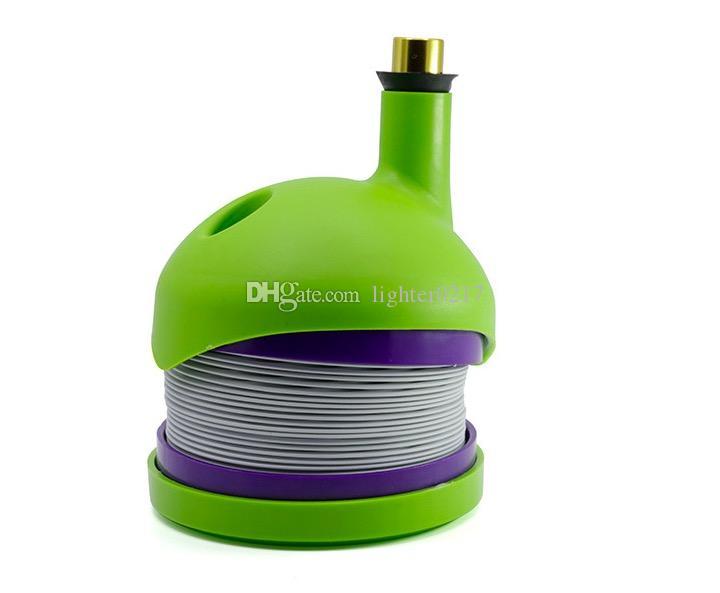 Nuevo Portátil Estiramiento de plástico Oruga Shisha Estiramiento Fumar agua bong tabaco Pipa de viaje Hookah con caja de color Flexible Hookah