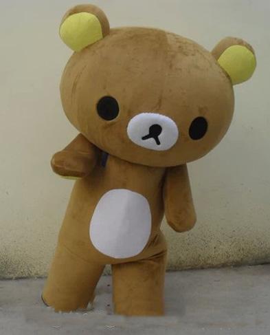Atacado-quente venda Janpan relaxamento urso mascote Tamanho trajes adultos de Halloween party alta qualidade trajes da mascote