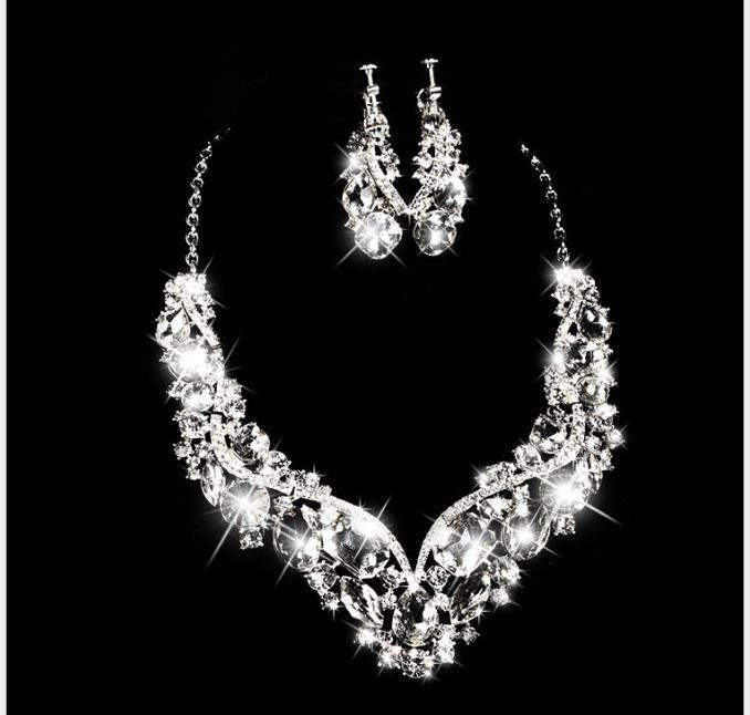 collar de la boda de novia, traje pendiente, vestido de novia, regalos, accesorios, collar de diamantes de Corea