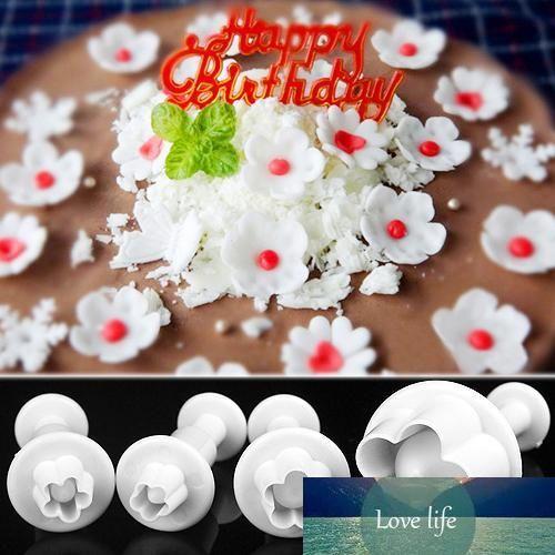 Сливы цветок Плунжер Fondant Плесень Резак Sugarcraft торт украшение