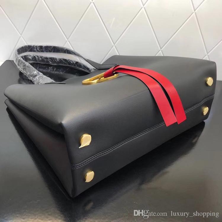 E W VRING Sac à provisions de haute qualité pour femmes Sac à main de luxe Sac à provisions de luxe Sac de marque de designer de mode Sac Rouge Blanc Noir