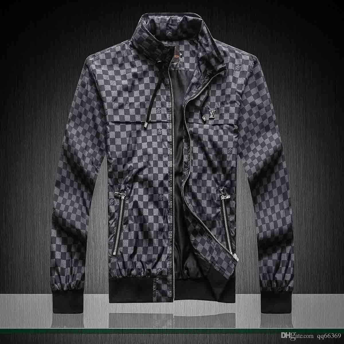 2020Fashion Designer-Jacken-Graben-Mantel-Langarm-Männer Jacke Hoodie Kleidung Zipper mit Tiere Letter-Mustern Plus Size Kleidung M-3XL