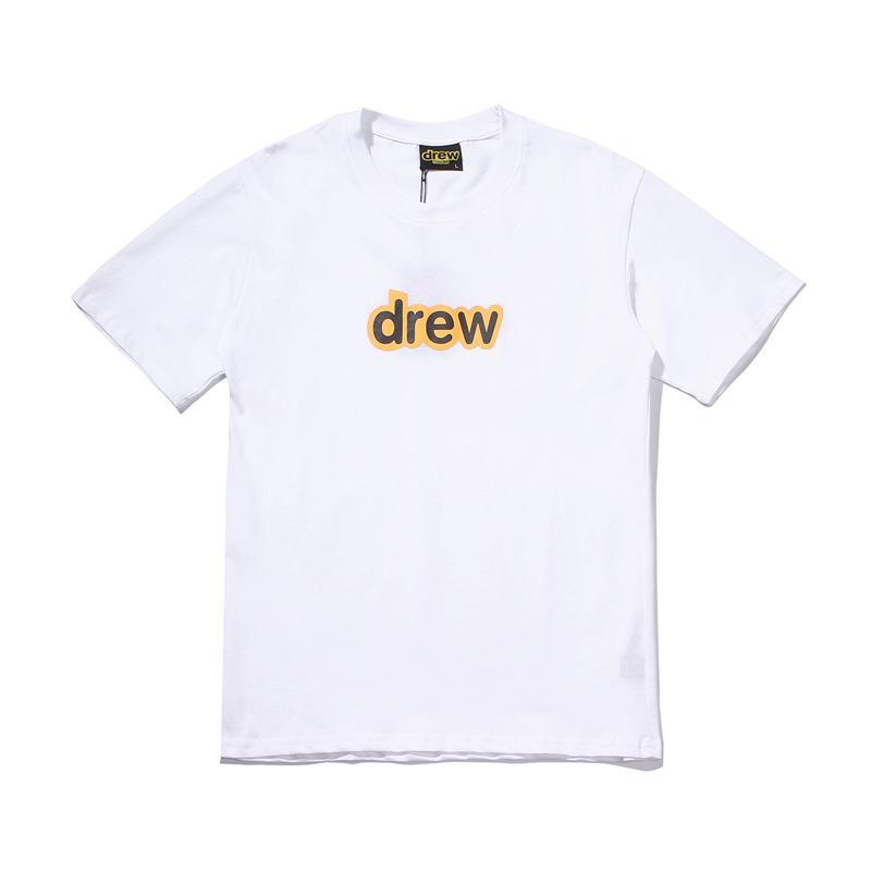 Mens Tshirt Drew High Street Style Mens e manica corta Womens girocollo in cotone T-shirt con 4 colori Asiatica Misura S-2XLts10