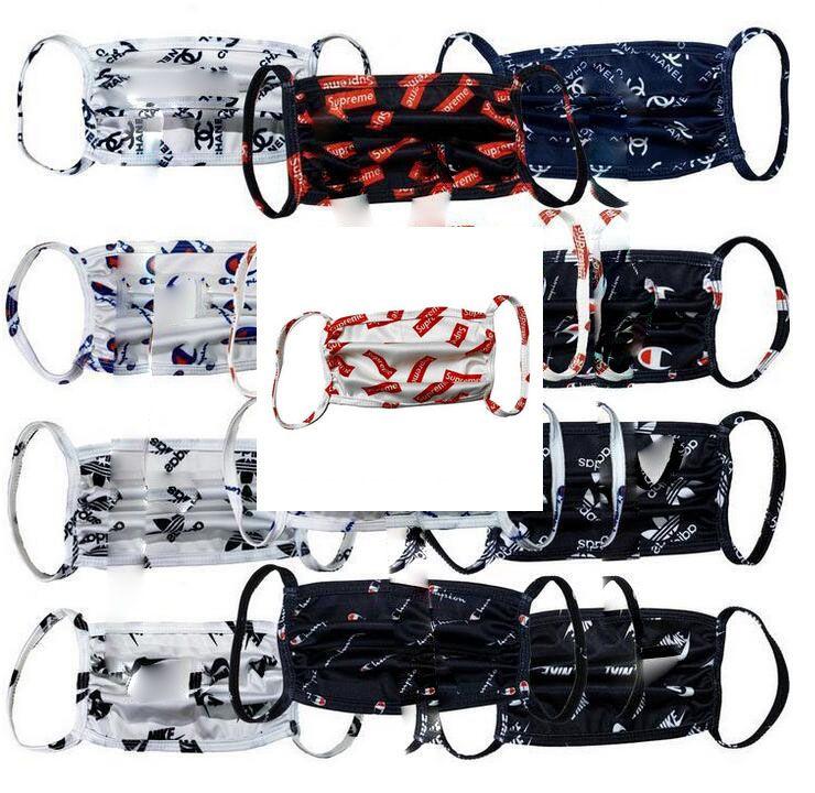 Designer Maschere Unisex Lettera faccia famoso mascherina protettiva ultravioletta a prova di maschere antipolvere Equitazione Sport Bocca Outdoor
