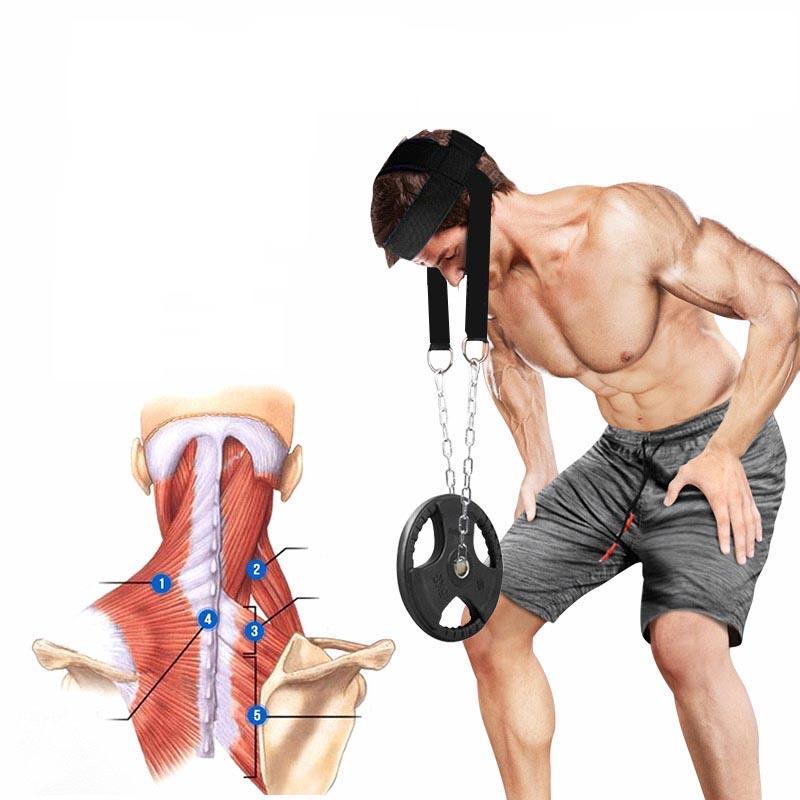 Matériel de fitness Equipement Tête Cou Entraîneurs Poids Cap Cap Ten de l'épaule Entraînement musculaire