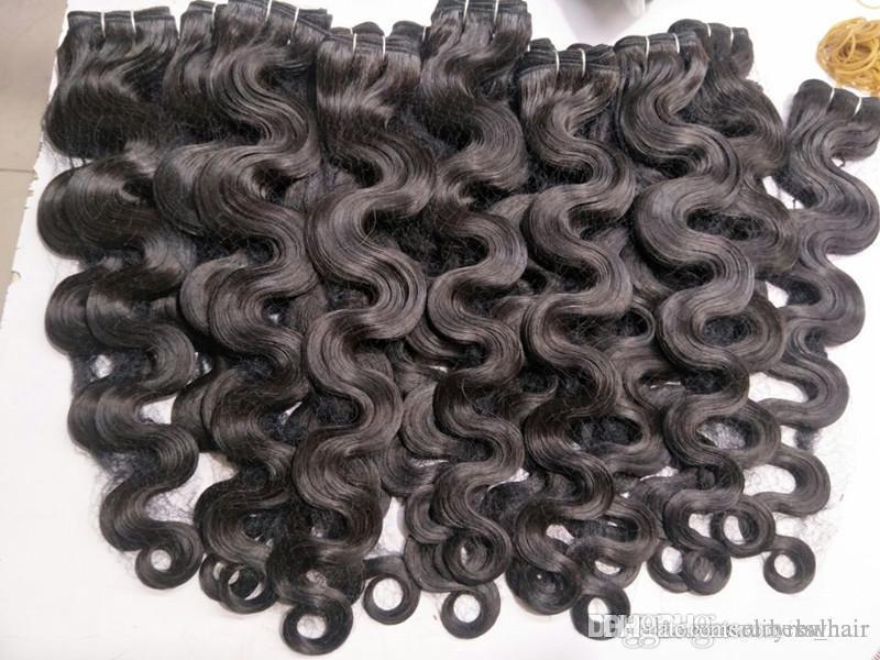 Дешевые волосы! 6bundles Лот один лот 100% бразильского Виргинские человеческих волос Weave волос Волнистые Объемная волна Natural Color Extensions волос, 100г пакет
