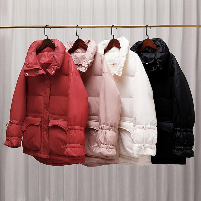 Janveny 90% White Duck Down Jacket Women Thick Long Winter Coat Women Korean Female Puffer Jackets Female Parka Doudoune Femm e
